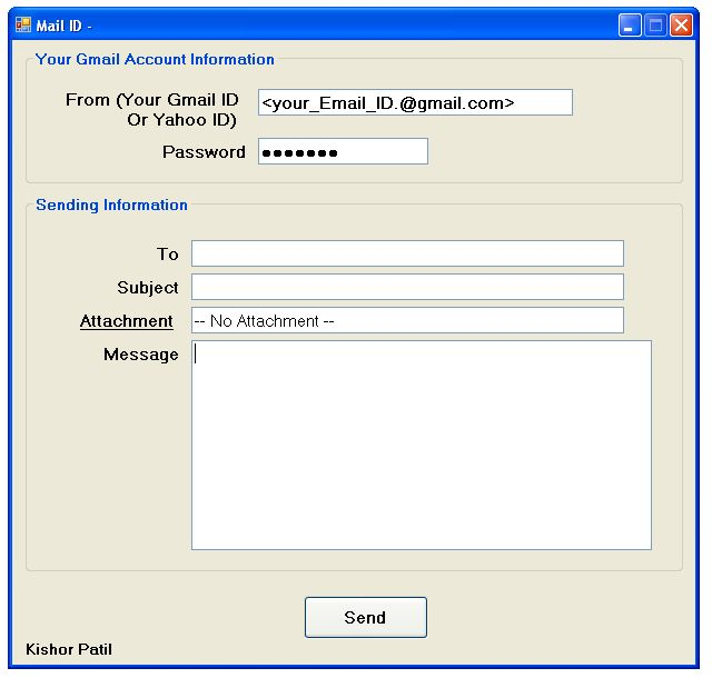php code to send mail using smtp