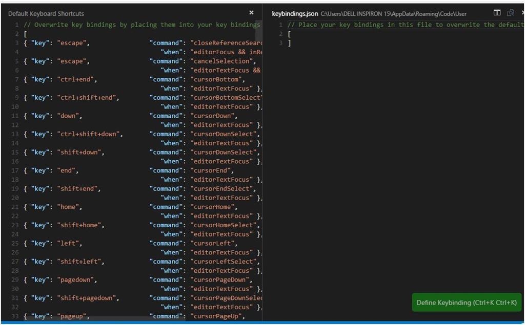 Visual Studio Code Keyboard Shortcut