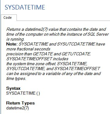 Sql date functions in Australia