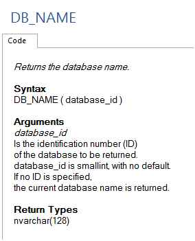 how to know db server name
