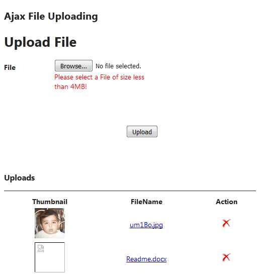 ASP NET MVC Async File Uploading Using JQuery