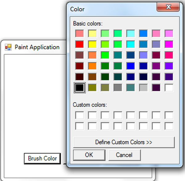 Paint Application In Windows Forms Application Using F