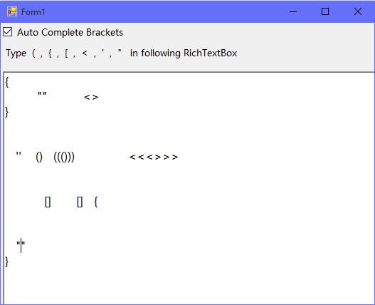AutoComplete Brackets In C# NET/VB  NET
