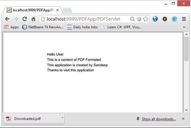 Create PDF files in Java : iText Tutorial