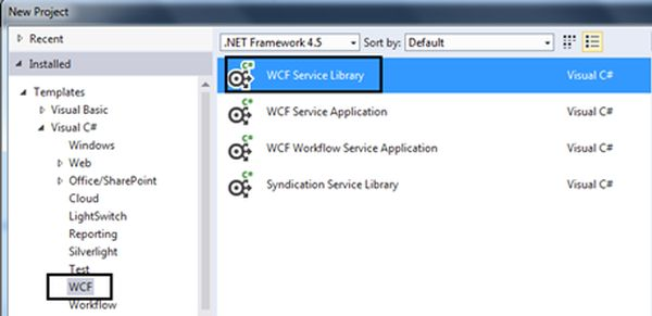 how to create a wcf service in c