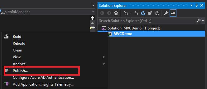 Publish ASP NET Web Application Using Visual Studio 2015