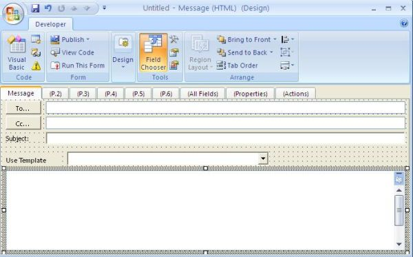 Outlook Custom Forms and VB NET- Using VbScript