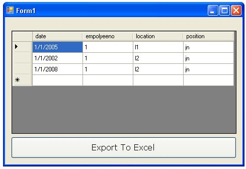 Export DataGridView To Excel In C#