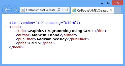 Writing XML with the XmlWriter class