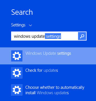 Disable Automatic Updates In Windows 8