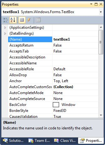 TextBox In C#