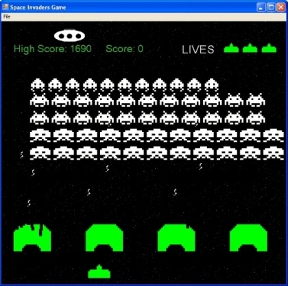 play space invaders space invaders