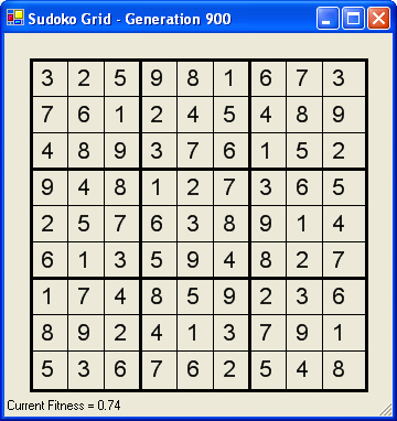 Using Genetic Algorithms to come up with Sudoku Puzzles