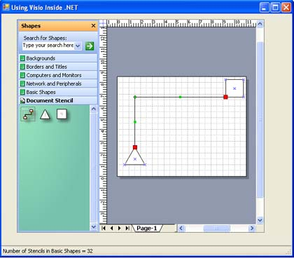 Figure 1 - Visio Control in a