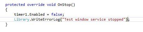 OnStop method