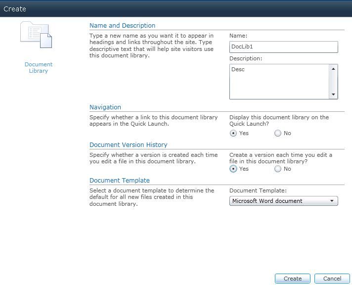 Sharepoint 2010 document library create edit title and for Document library name sharepoint