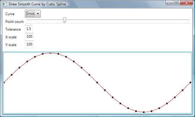 Drawing Lines In Wpf C : Draw a smooth curve through set of d points with cubic