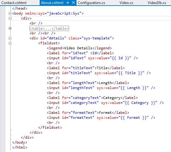 Asp net mvc 5 web api consuming at client side - Div tag properties ...