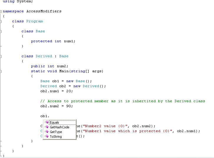 Lesson 9: Access Specifier Examples C#