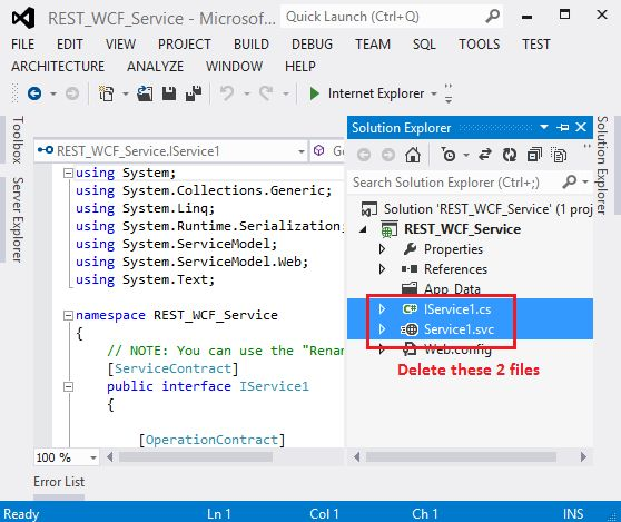 Create and Consume WCF Restful Service