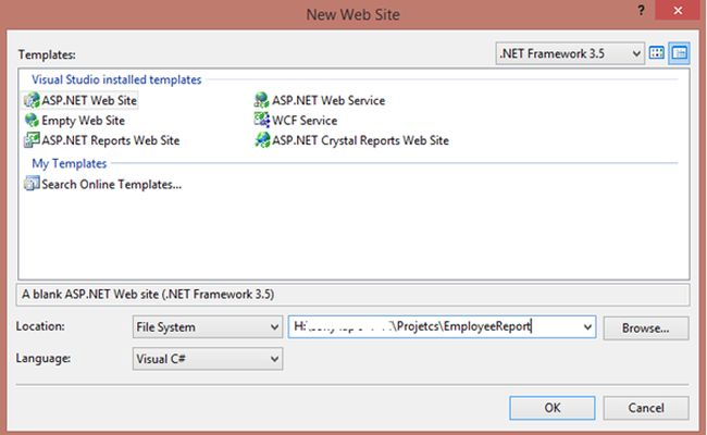 Create Crystal Reports Report in ASP Net