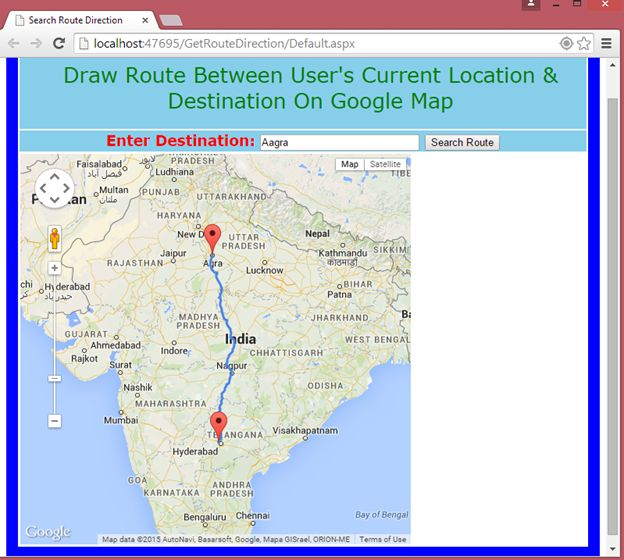 how to put current location on google maps