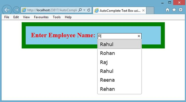 enter employee name