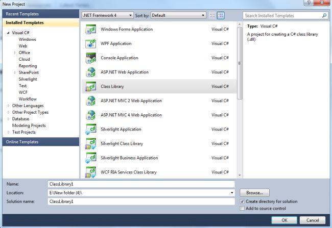 Creating DLL (Class Library) in  NET Framework