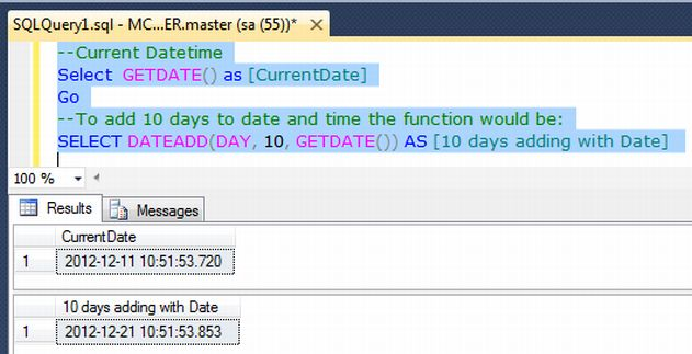 In this case use the DATEADD Function mentioned above.
