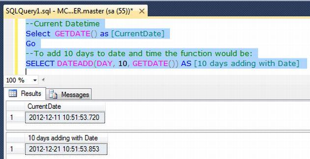 Sql date add