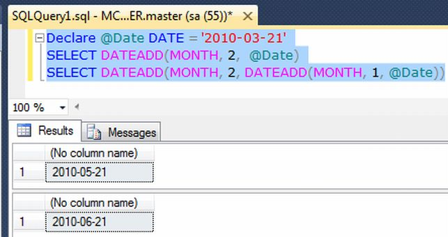Alternatively, we can add Days to Date like below in Sql Server. In ...