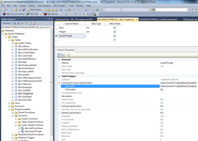 Add computed column sql server example - Alter table sql server example ...