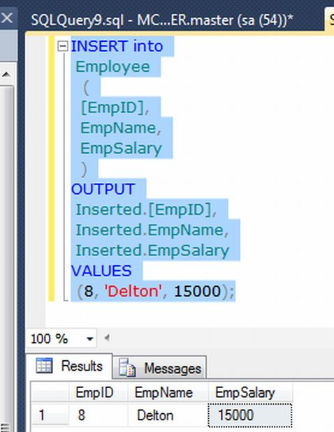 How to write insert statement in sql