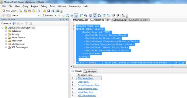 Some Important XML Data Type Methods in SQL Server 2012