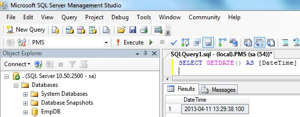 Working With Date and Time in SQL Server and C#
