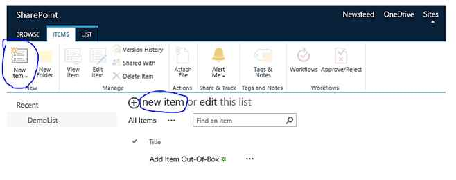 Different Ways To Add Item In SharePoint 2013 List