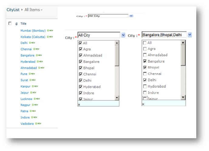 DropDown List With Multiple Selection Option in SharePoint 2010