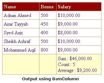 SumColumn: Custom DataGrid Column that automatically shows