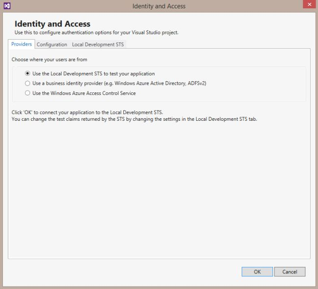 Identity and Access Provider Tab