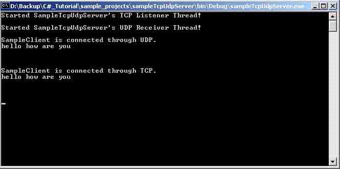A Simple Multi-threaded TCP/UDP Server and Client V2