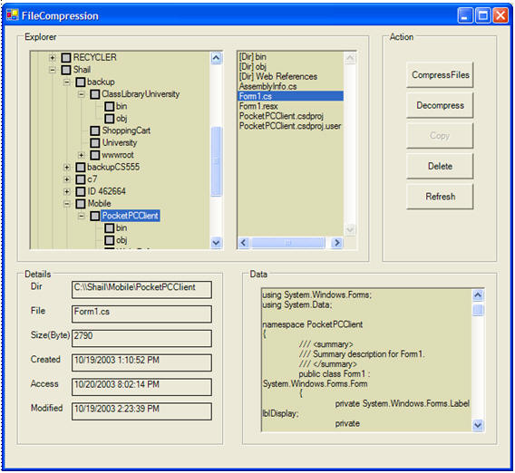 Advanced File Explorer using C# and Windows Forms