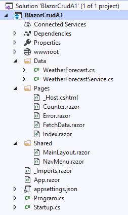 AspNet Core Blazor WebAssembly - CRUD