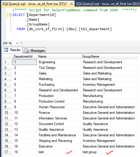 Entity Framework Query Through Database