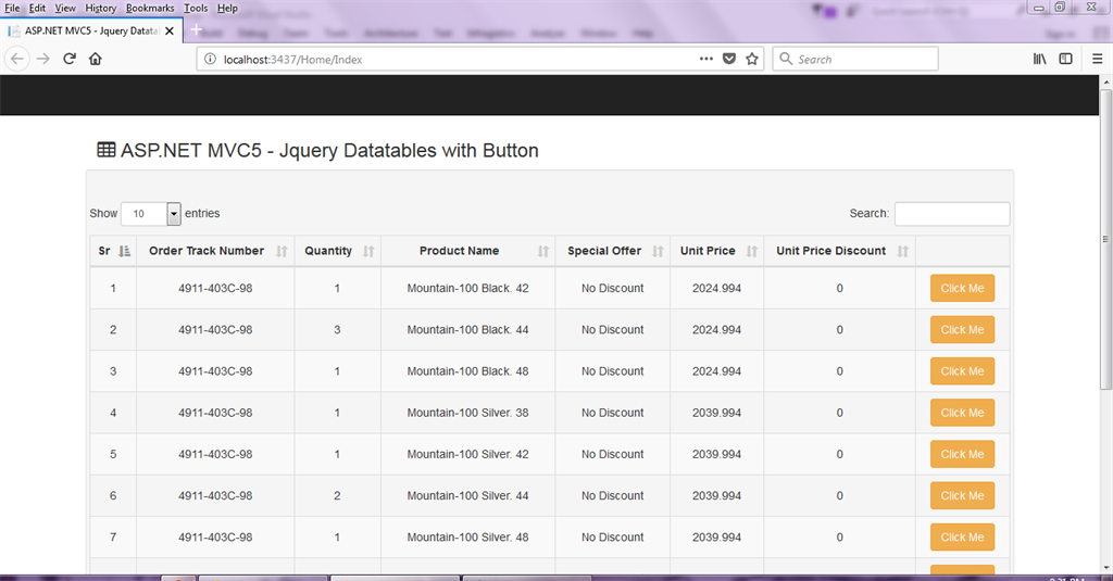 ASP NET MVC 5 - Buttons In Datatables jQuery Plugin