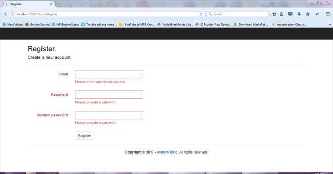 ASP NET MVC 5 - JQuery Form Validator