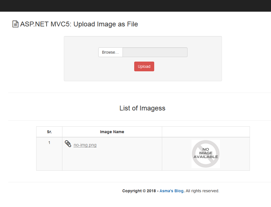 ASP NET MVC5 - Upload Images/Files As Document