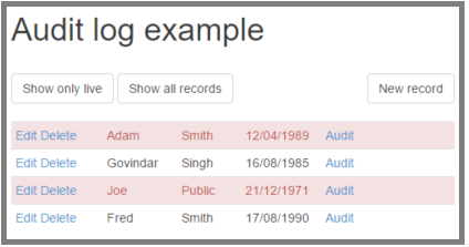 Audit Trail And Data Versioning With C And Mvc