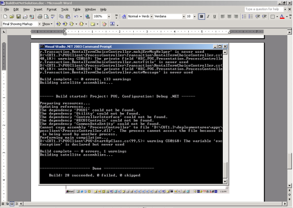 Build a  NET Solution or Project from the Command Line