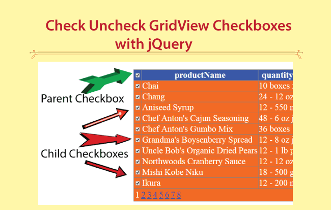 Check/Uncheck All GridView Checkboxes With jQuery