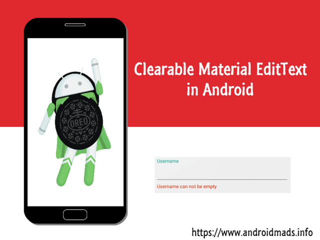 Clearable Material EditText In Android